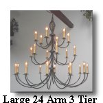click here for Large 24 Arm 3 Tier Wrought Iron Chandelier